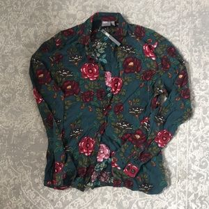 ASOS new with tags floral button up XS